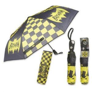 DC Comics Batman Retro Logo Geo Pattern Umbrella